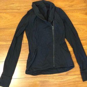Lululemon asymmetrical zip long sleeve workout top